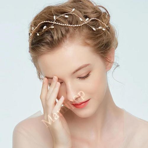 Pearls Hair Vine Headband Rhinestone Maternity Photography