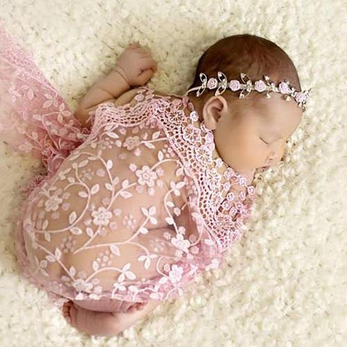 New born lace towel with headband fashion Photography Bbay Blanks