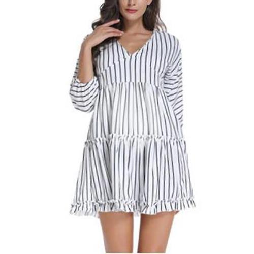 Maternity Casual Stripe Dress