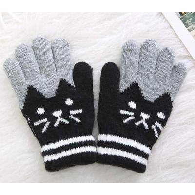 Comfortable Soft Unisex Children Winter Warm Knitted Mittens (4-8 Years)