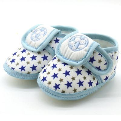 Baby Shoes 3Color Embroidery Football Print Cotton First Walkers Cute Happy Infant Soft Sole Anti-slip Shoes