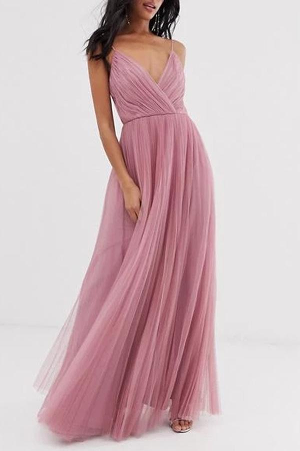 Mesh Stitching Dress Dress