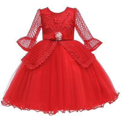 Flower Lace Princess Evening Dress