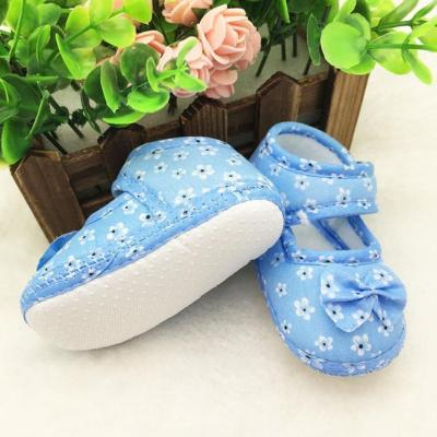 2020 New Fashion Newborn Kids Baby Shoes Summer Bowknot Printing Newborn Cloth Shoes