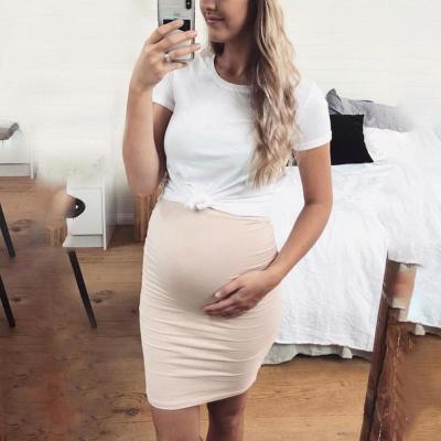 Maternity Short Sleeve Double-Layer Bodycon Dress