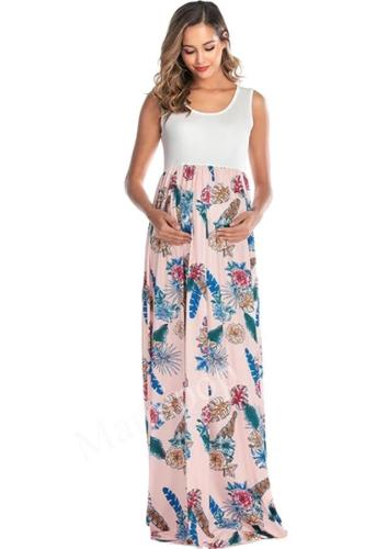 2020 Women's Printing Stitching Large Pendulum Maternity Dress