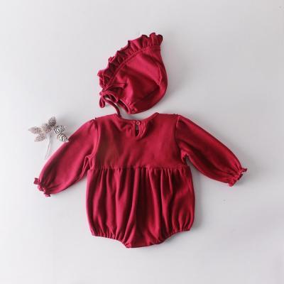 Baby Redwood Ear Long-sleeved Cotton Triangle Ha Dress Harscoist Dress Climbing