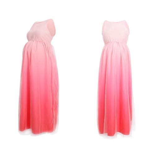 Maternity Gradient Full Length Dress