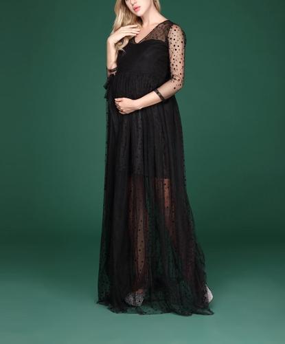 Pregnancy Pregnant Women Lace Dresses Photography Props