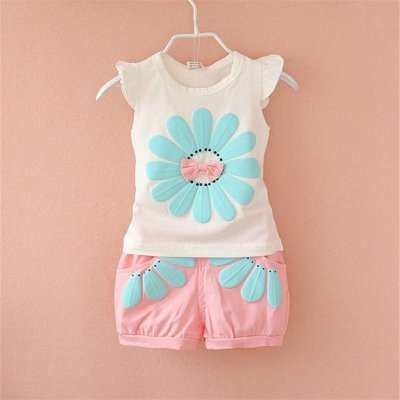 Toddler Summer Clothes Kids Baby Boys Girl Cartoon Short Sleeve Outfits