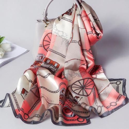 Spring and autumn new  flowers  women summer sun protection beach towel mulberry silk Scarf