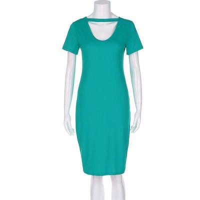 Solid Color Short Sleeve Maternity Dress