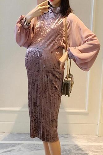 Maternity Chiffon Bubble Dress
