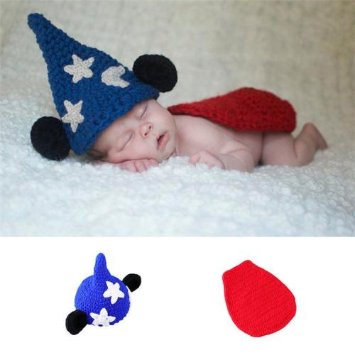 Crochet Newborn  Boy Girl Witch Magician Hat & Cover  Knitted Outfit
