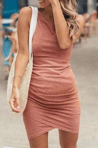 Maternity Sleeveless Irregular Dress