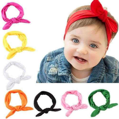 For Girl Rabbit Ear Hairbands Turban Knot Kids Turbans Accessoire  Headband