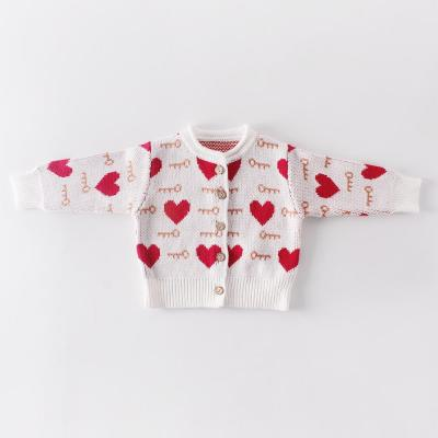 Baby Children's Wear 0-2 Years Old Suit Love Coat+baby Clothes Climbing Clothes