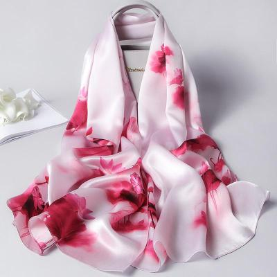 Spring and Autumn new women's long air-conditioning shawl fashion trend mulberry  silk scarf