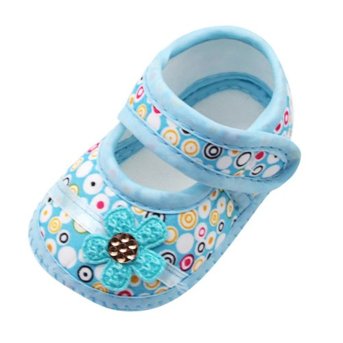 Infant Newborn Baby Boys Girls Children First Walkers Floral Print Prewalker Soft Soled Shoes