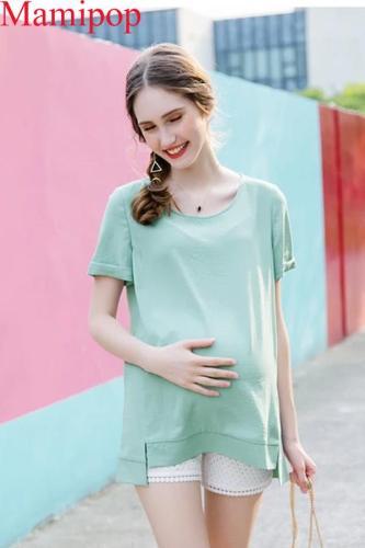 Summer Maternity Shirt Chiffon Shirt Loose Pregnancy Clothes T shirt