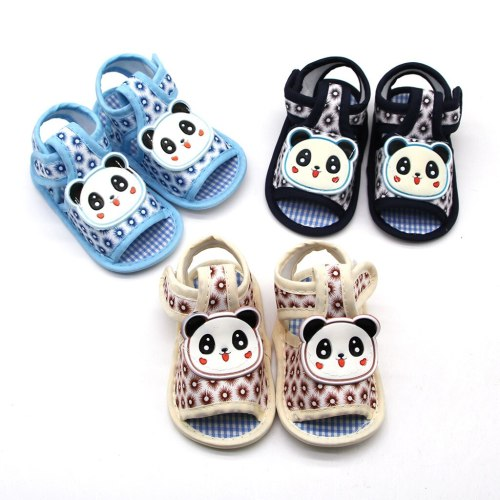 Newborn Baby Girls Printing Applique Prewalker Soft Sole Single Shoes Summer Unisex High Quality Cotton First Walker