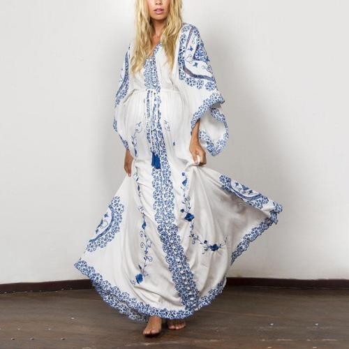 Maternity Print Long Dress