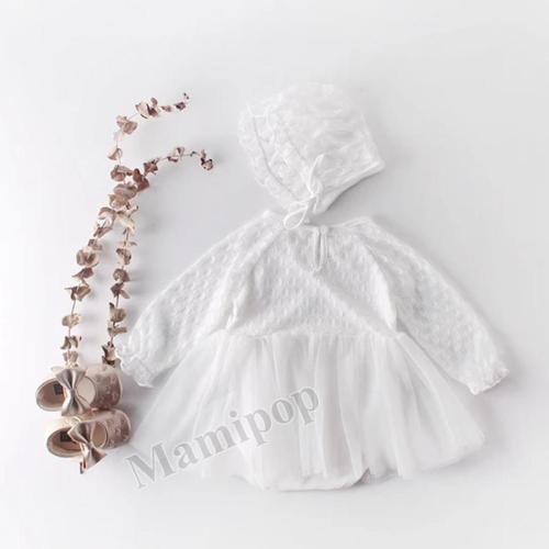 Spring and Autumn Girl Baby Bud Long Sleeve Triangle Suit