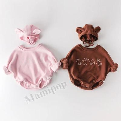 Winter  Baby Bear Long Sleeve Climbing Clothes Plus Pile Thickening