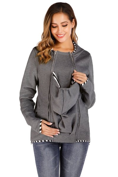 Women's Outerwear inclined zipper sweater women's thickened Hoodie in autumn and winter