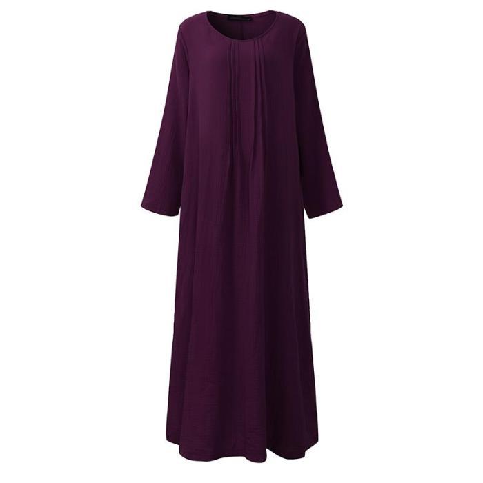 Maxi Long Dress Pregnant Women V Neck Long Sleeve Causal Loose Dress
