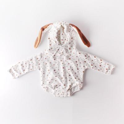 Winter Clothes Baby Star Rabbit Ears Baby Newborn Clothes Hooded Romper