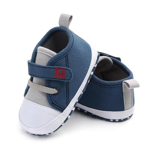 Baby Shoes Newborn Baby Cute Boys Girls Canvas Letter First Walker Soft Sole Shoes Hook & Loop baby girl shoes
