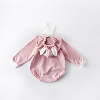 Boys and Girls Newborn Long Sleeve Clothes Hooded One-piece Clothes