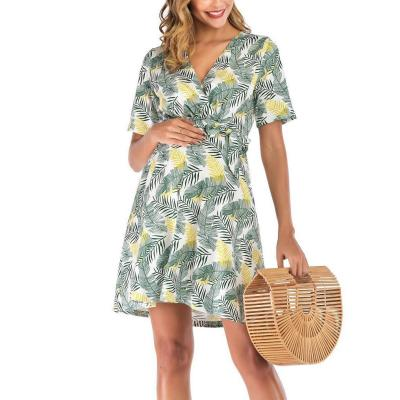 Maternity Tied Loose Printed Dress