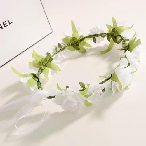 Headdress with Leaf Garland Bride Bride Maid flower girl Wedding Garland