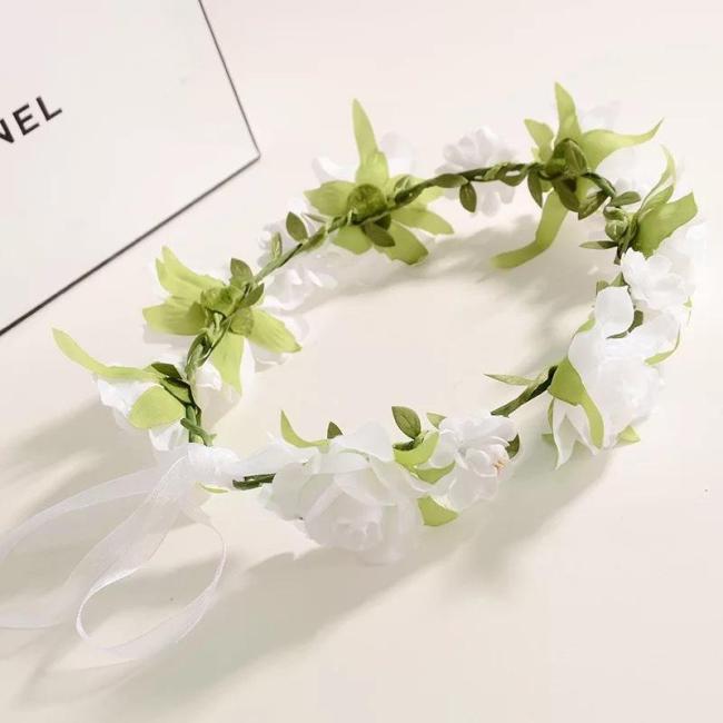 Headdress with Leaf Garland Bride Bride Maid flower girl Wedding Garland