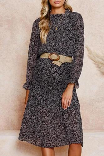 Fashion polka dot ruffled maternity dress