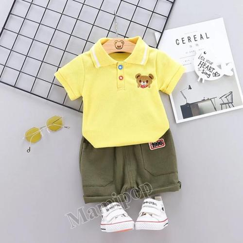 2020 summer new Korean version of small and medium-sized boys and girls cartoon cute set