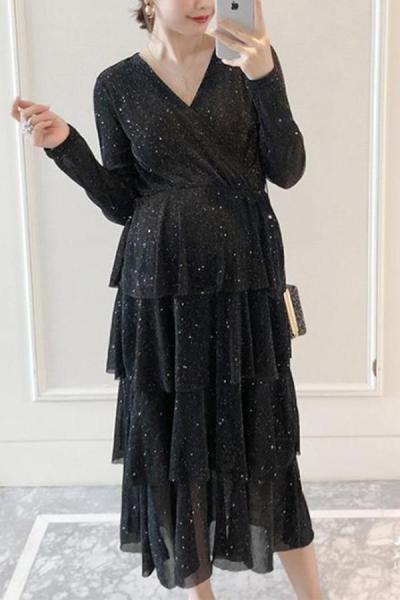Maternity Print Loose Dress
