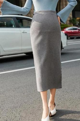 Maternity Leisure simple pure color lady skirt