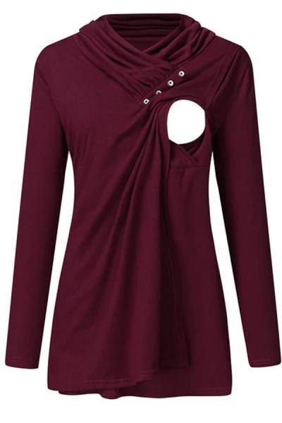 NEW Women Winter Clothes Maternity Hoodie Long Sleeve Nursing Tops
