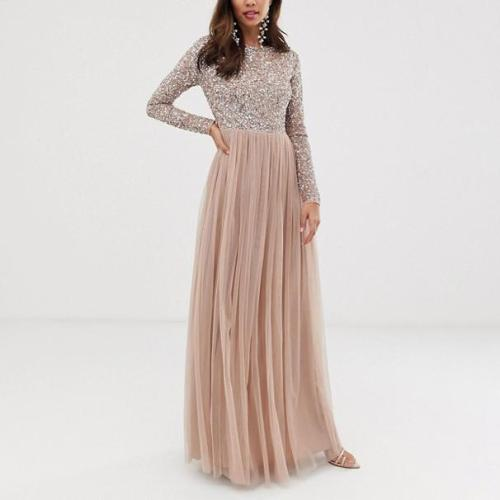 Maternity Sequined Stitching Dress