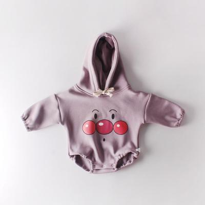 Winter Baby Newborn Clothes Hooded Jumpsuit Climbing Clothes Plus Velvet Thickening