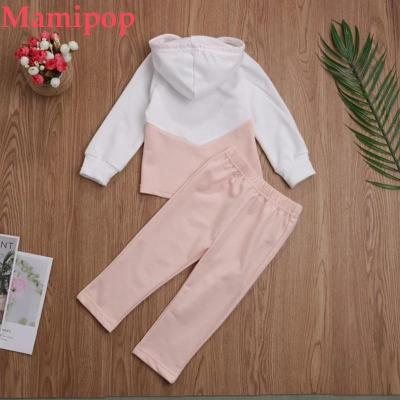 Baby Girl Clothes Sets Patchwork Tracksuit Hooded Shirt Outfits