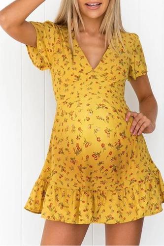 Maternity fashion printed dress