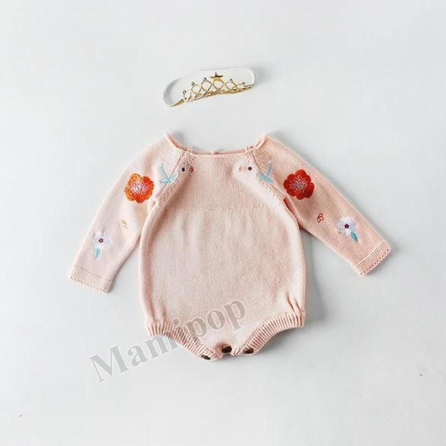 2020 Baby Embroidery Sweater Knitted Woollen Coat