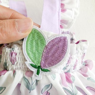 Summer Tulip Printed ha Skirt Cotton Net  Triangle Climbing Dress