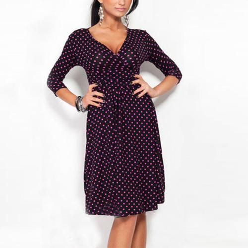 Maternity Polka-Dot Print Dress