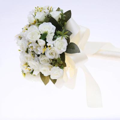 Handmade Artificial Bouquet Bridesmaids Bouquet Hand Tied Flower Party Decor
