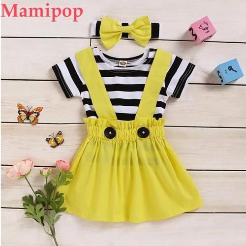 3Pcs Toddler Girl Clothes Baby Girls Short Sleeve T Shirt Clothing Set